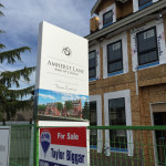 Amherst Lane townhouses under construction by Balandra Development Inc. at 8600 No 2 Road in Richmond, BC