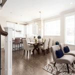 Dining area of Amherst Lane townhomes built by Balandra Homes