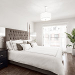 Master bedroom of Amherst Lane townhomes built by Balandra Homes
